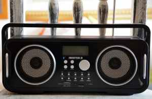 Image is of an older radio, meant to reflect the changing of the stations if you didn't like something