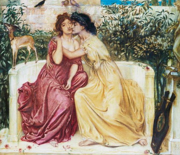 Sappho and Erinna in the Garden Mytelene by Simeon Solomon. Fine Art Photographic Library/Corbis via Getty Images